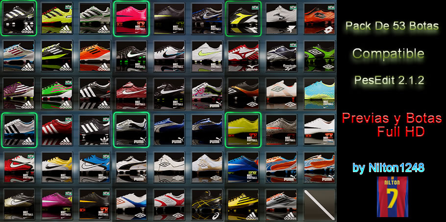 This bootpack includes 53 boots.Pes 2011 HD Big Bootpack(53 boots) for PESE