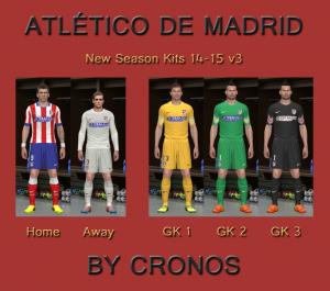 Atletico de Madrid 14-15 Kits v3