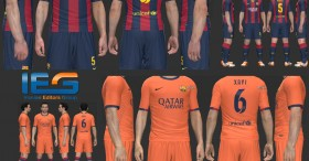 Barcelona 2014-15 Home & Away Kits By SRT
