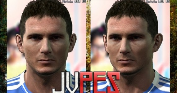 Face de Frank Lampard do Chelsea para PES 2011
