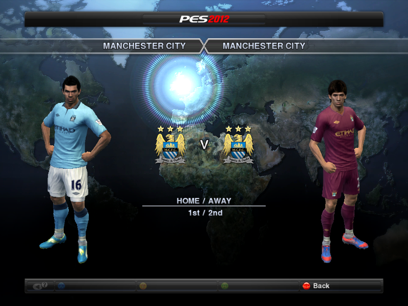 PES 2012 Manchester City 12-13 Kit Set Previews: