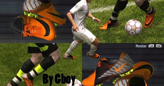 Nike Mercurial Vapor Superfly III Orange   Black Volt silver- by Gboy  img