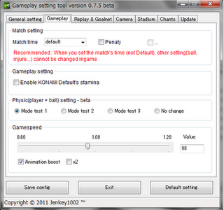 PES 2011 Gameplay Patch & Tool v0.7.7 physic mode