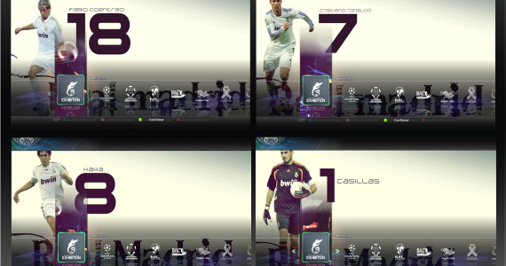 PES 2011 real madrid menu