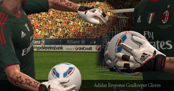 PES 2012 Adidas Response Goalkeeper Gloves by PEStinator