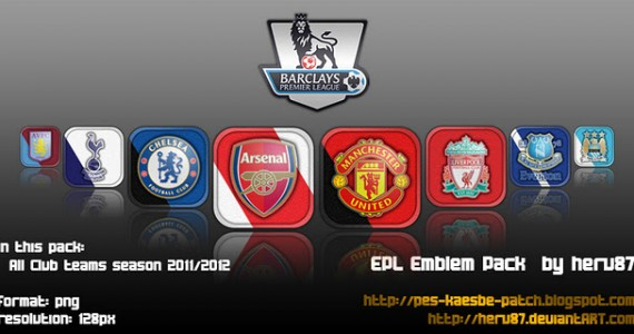 PES 2012 Barclays Premier League Emblem Pack