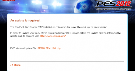 PES 2012 Konami Official Update 1.0