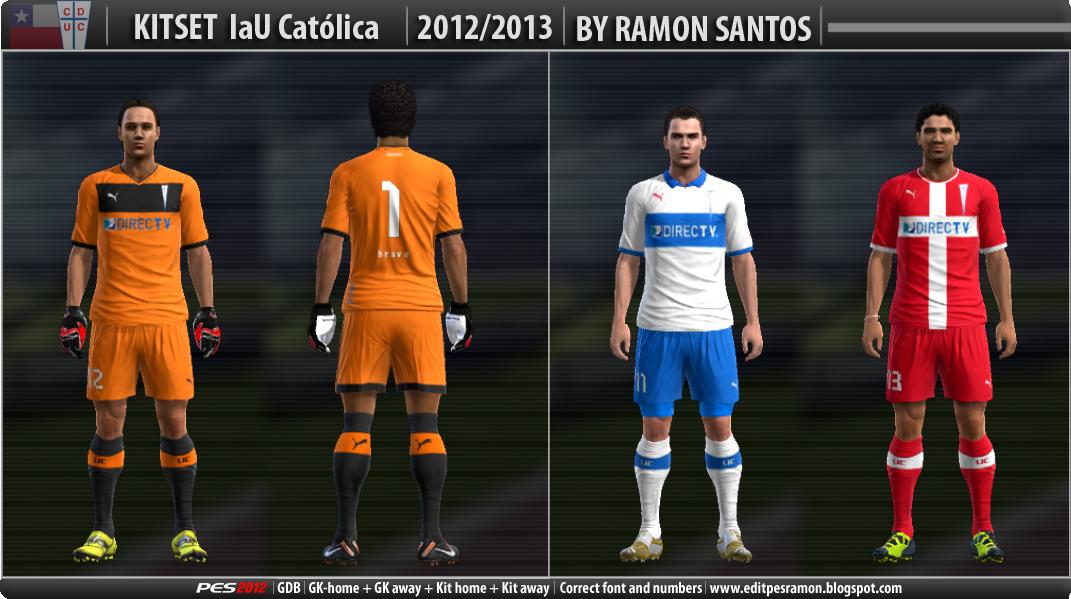 PES 2012 LAU CATÓLICA 2012-2013 Kits by Ramon Santos