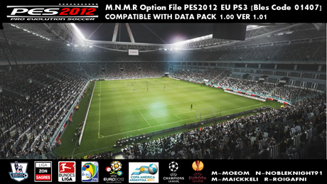 PES 2012 M.N.M.R 's Eu PS3 Option File - Bles 01407