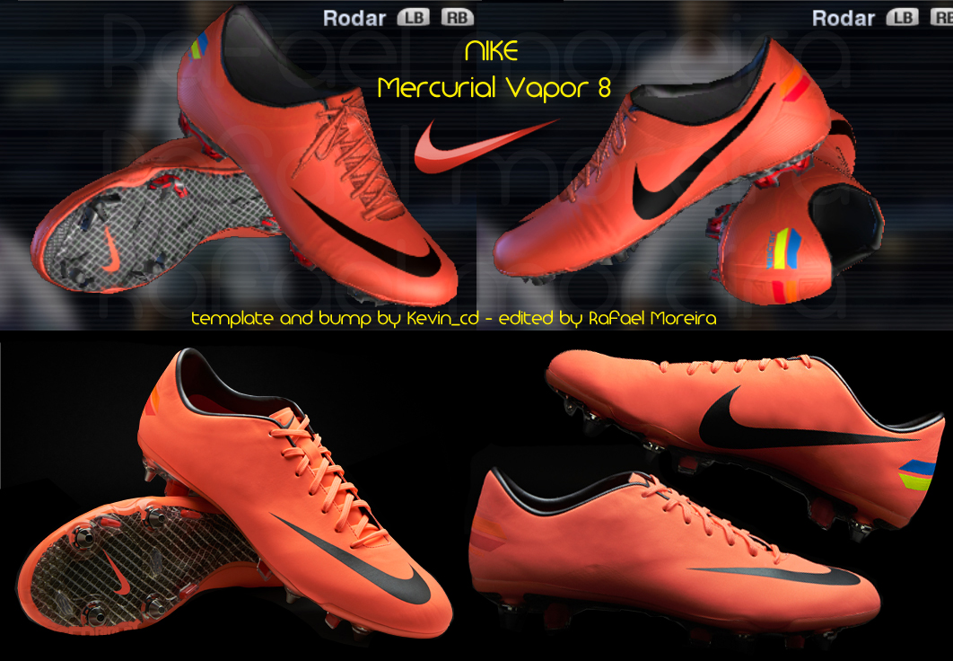 PES 2012 Mercurial Vapor 8     Mango Grey  Template Kevin_cd  By