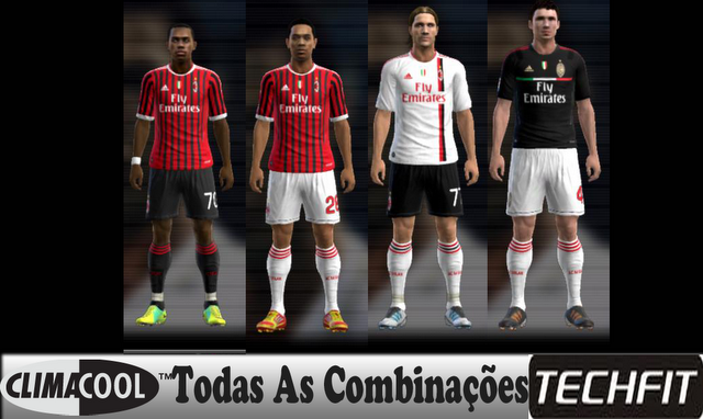 PES 2012 Milan Full GDB Folder including techfit and climacool kits