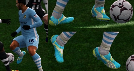 PES 2012 Puma v1.11 Dresden Blue - White - Lime Punch