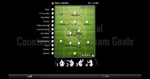 PES 2012 Real Madrid Gameplan Pitch