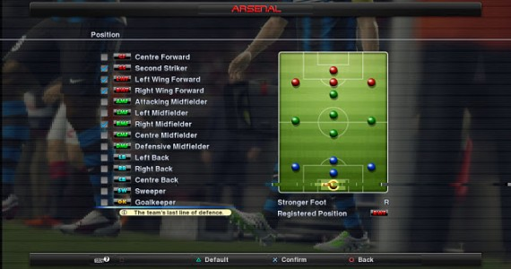 PES 2012 Style 2 Position
