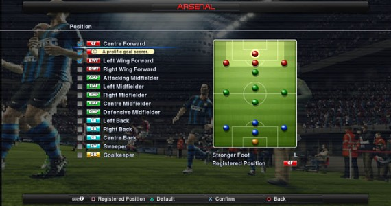 PES 2012 Style 3 Position