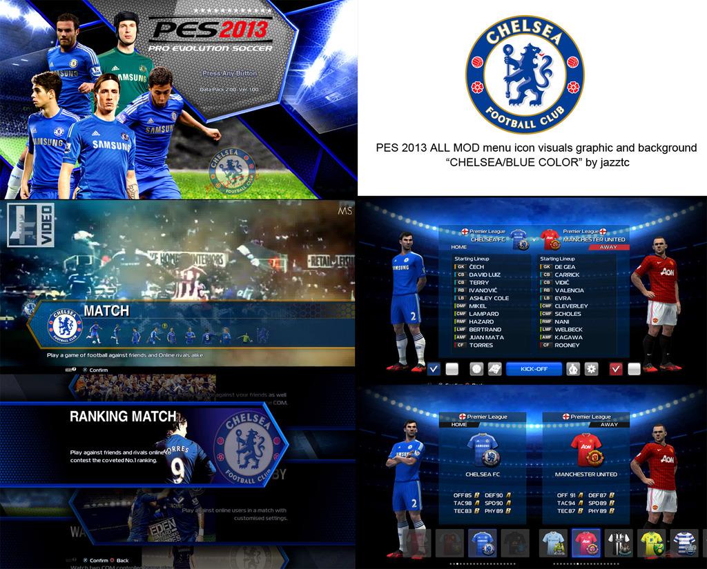 Menu do Chelsea - PES 2013