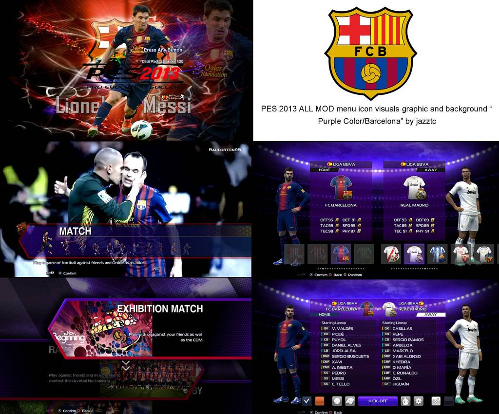 "PES 2013 ALL MOD menu icon visuals graphic and background ""purple"