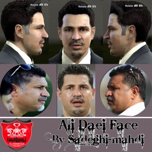 PES 2013 Ali Daei Face and Hair