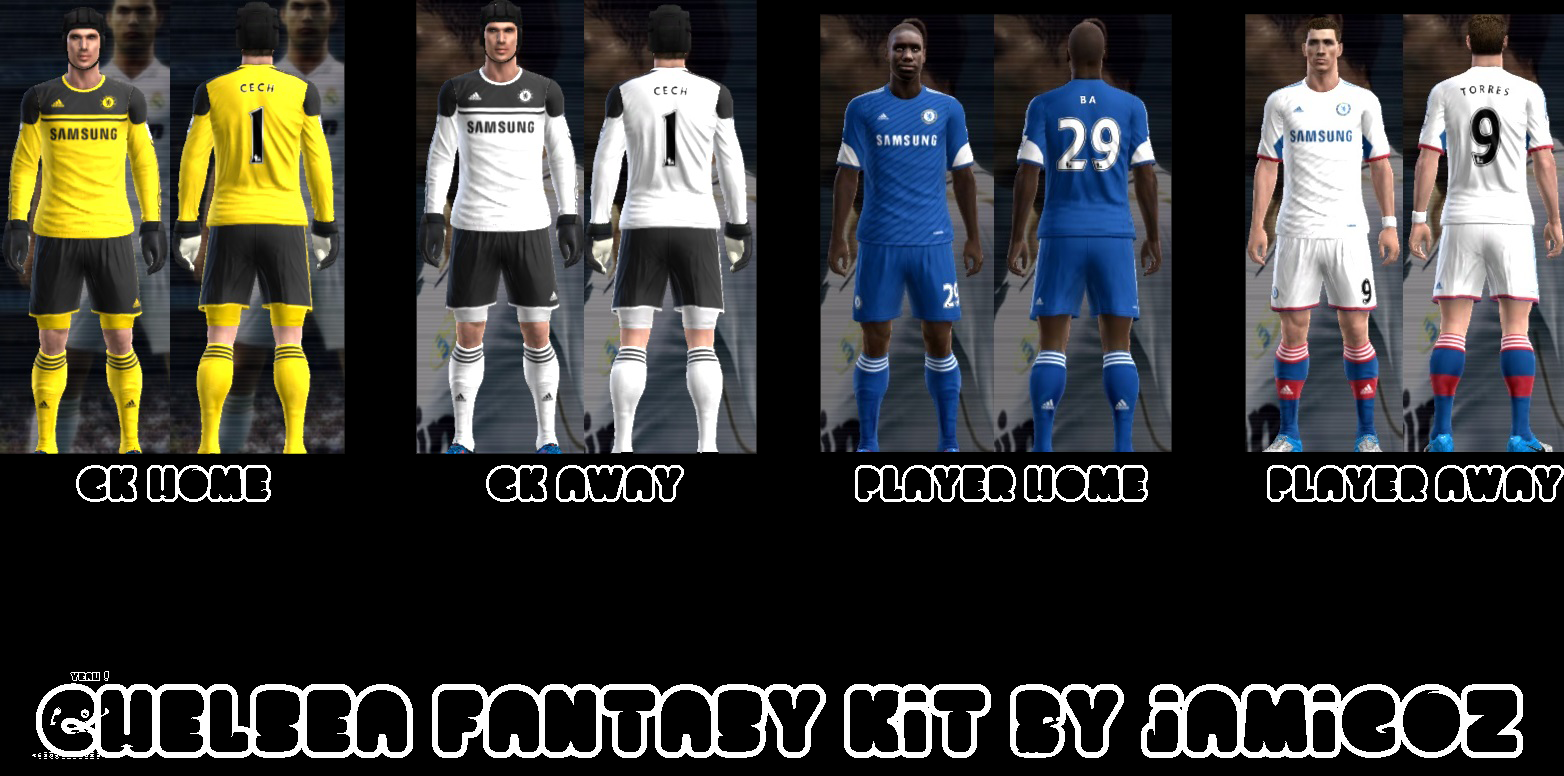 PES Patch: PES 2013 Chelsea Fantasy Kit Set By JAmigoZ