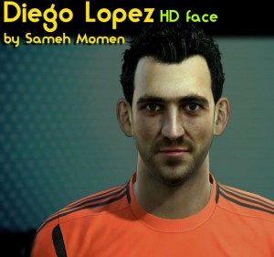 PES 2013 Diego Lopez HD Face