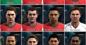 PES 2013 English Premier League Facepack