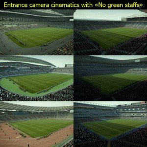 PES 2013 Entrance camera cinematics with No green staffs