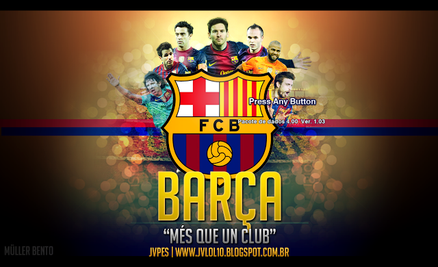 PES 2013 FC Barcelona Start Screen by Muller Bento