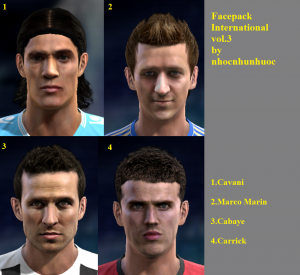 PES 2013 Facepack International vol.3