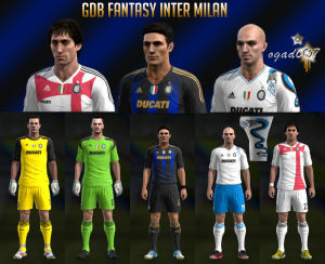 PES 2013 Fantasy Inter Milan Kits Set