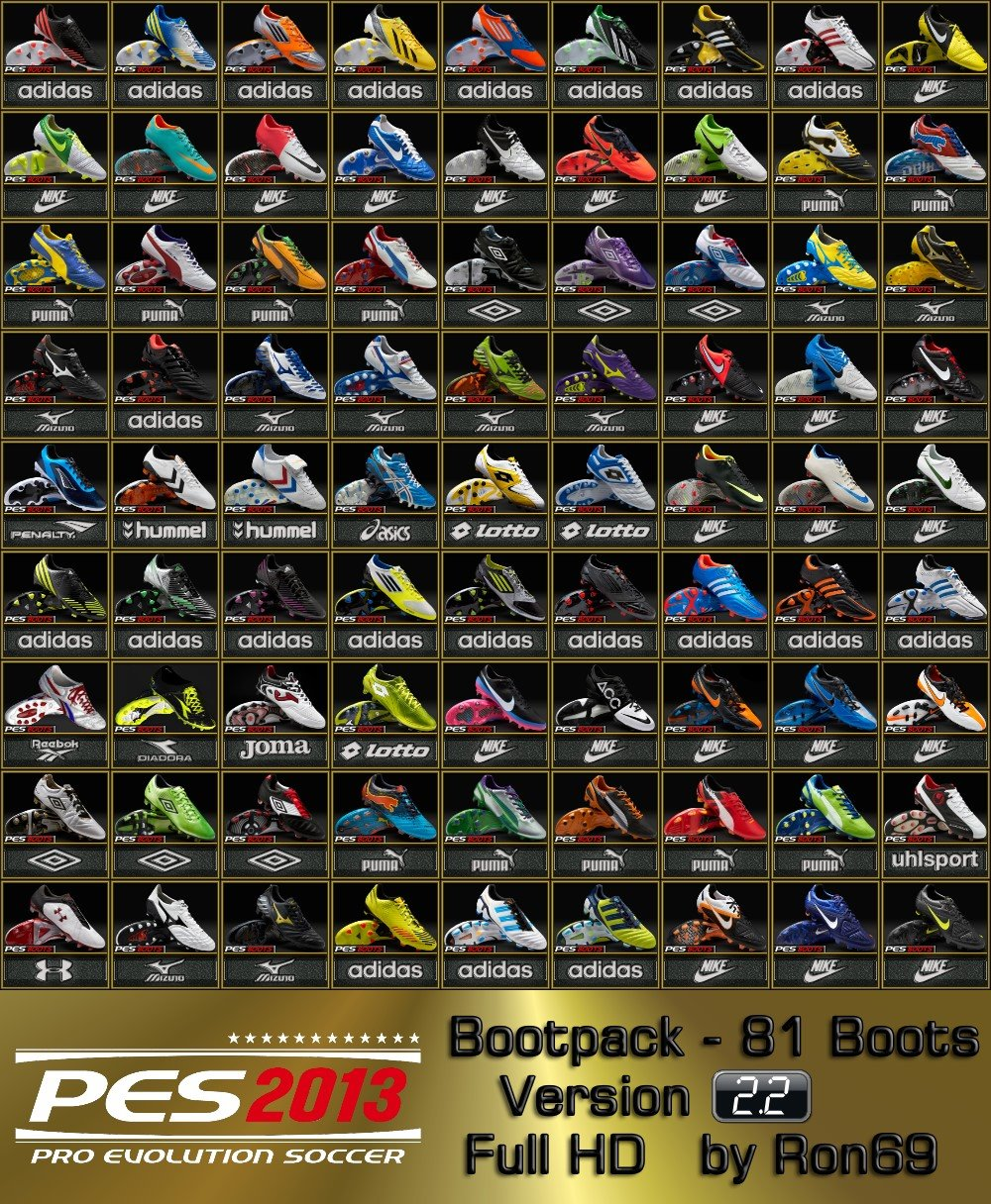 PES 2013 HD Bootpack 2.2 (81 Boots) Preview: