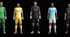 PES 2013 Manchester City 2013-2014 Full Kitset