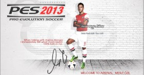 PES 2013 Mesut Ozil Start Screen