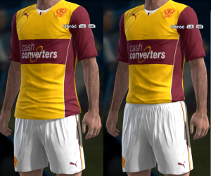PES 2013 Motherwell FC 2013 14 Home Kit