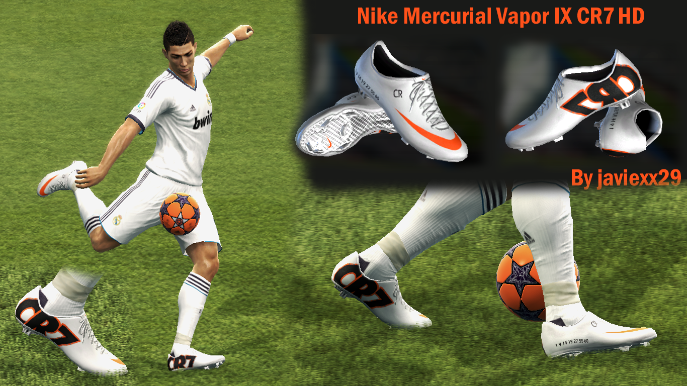 PES 2013 Nike Mercurial Vapor IX CR7 HD Boots Download Links