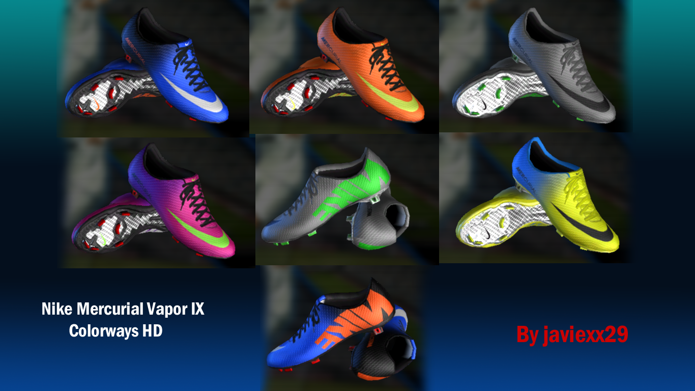 PES 2013 Nike Mercurial Vapor IX Colorways HD Bootpack Download Links