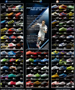 PES 2013 Pack of (81) Boots Pes 13 - V2 Full HD