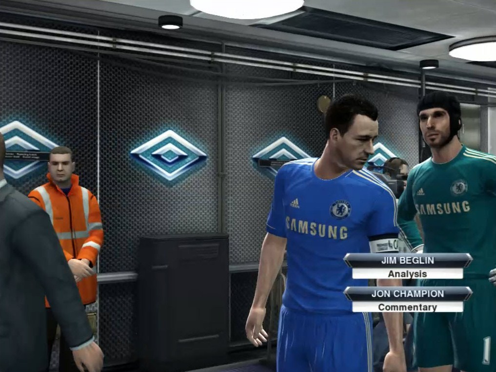 PES 2013 Players Tunnel with Umbro Logo by hamid2OOO