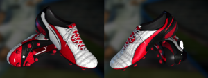 PES 2013 Puma King White-Red-Black Boots
