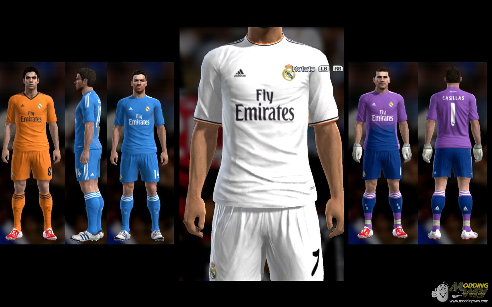 PES 2013 Real MADRID Full GDB Folder 2013-2014 by Hamidreza.k
