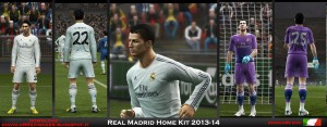 PES 2013 Real Madrid Home Kit 2013-2014