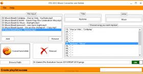 PES 2013 Relink & Music Converter