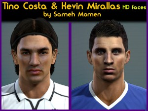 PES 2013 Tino Costa & Kevin Miralls Faces