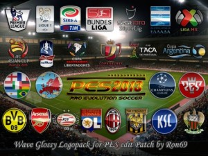 PES 2013 Wave Glossy Logopack for PESEdit Patch 4.01