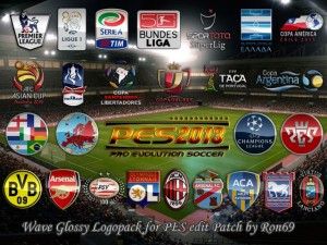 PES 2013 Wave Glossy Logopack for PESEdit.com 2013 Patch 3.4