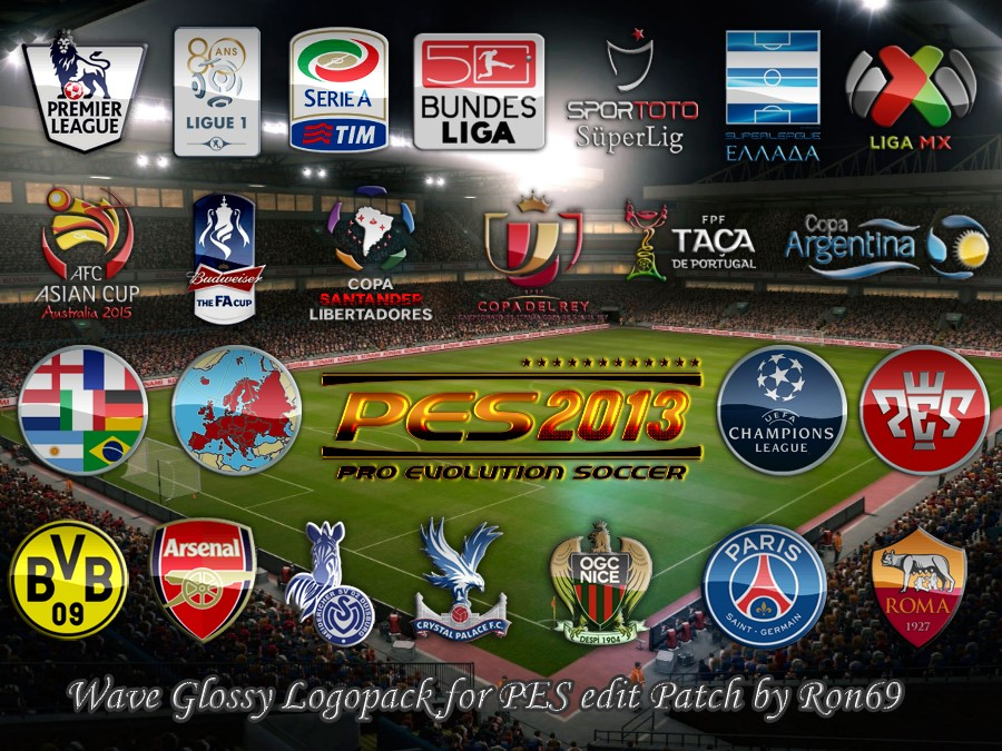 PES 2013 Wave Glossy Logopack for PESEdit.comm 2013 Patch 3.7 / 3.7.1