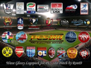 PES 2013 Wave Glossy Logopack for PESedit Patch 3.0
