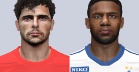 PES 2014 Admir Mehmedi and Jeremain Lens Faces