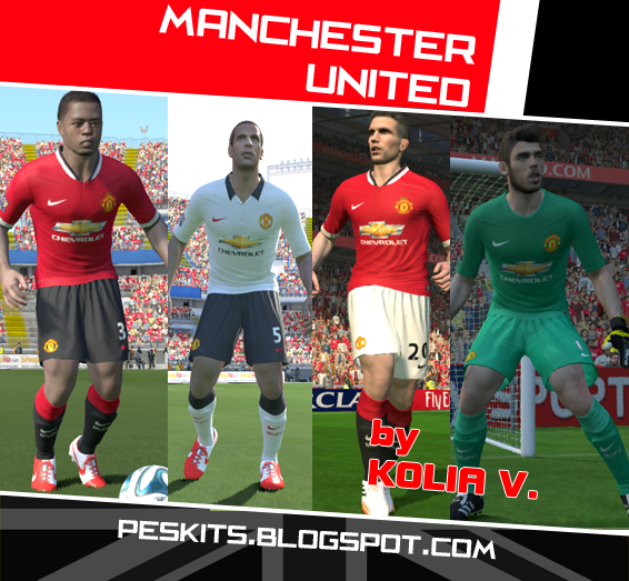 PES 2014Man Utd Full GDB 14/15 GDB Kits