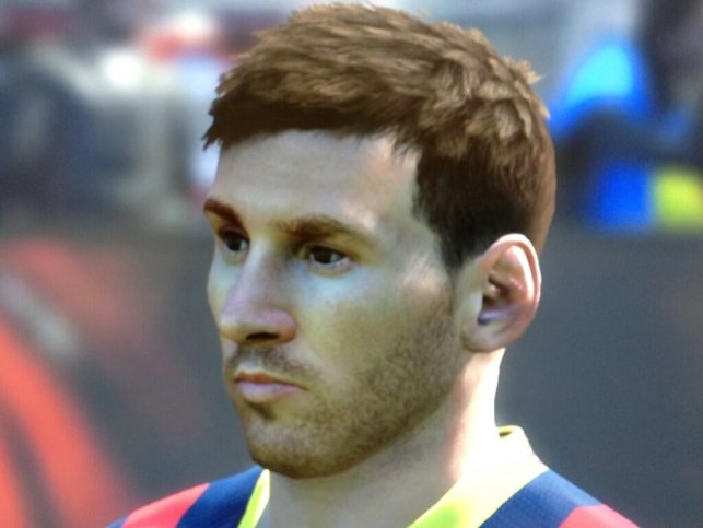 Here is Lionel Messi & Cristiano Ronaldo in PES 2014