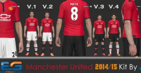 PES 2014 Manchester United 2014-2015 Kits
